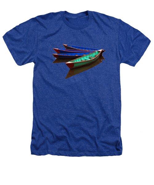Nepalese Fishing Boats  Heathers T-Shirt