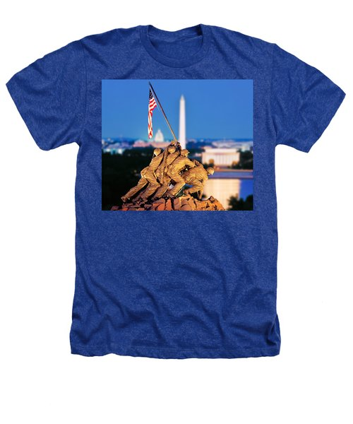 Digital Composite, Iwo Jima Memorial Heathers T-Shirt