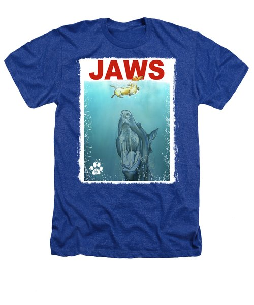 Dog-themed Jaws Caricature Art Print Heathers T-Shirt