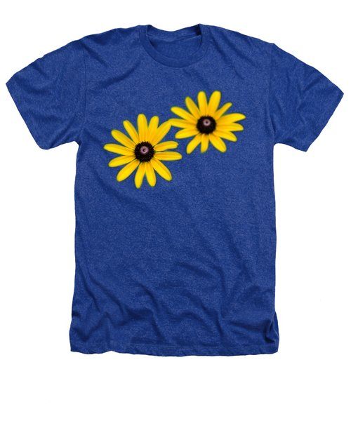 Double Daisies Heathers T-Shirt by Christina Rollo