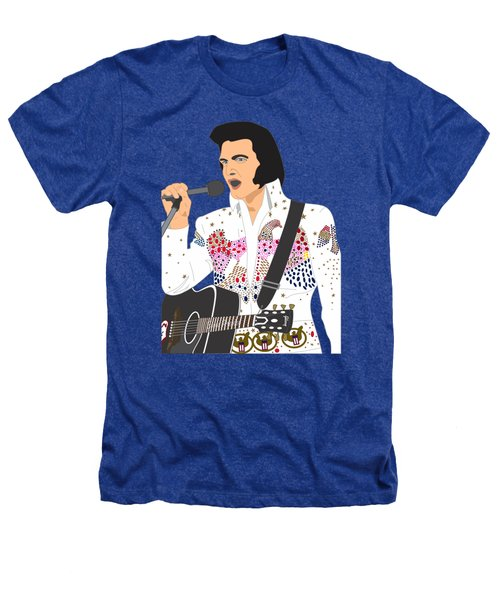 Elvis Presley - 1973 Heathers T-Shirt by Troy Arthur Graphics
