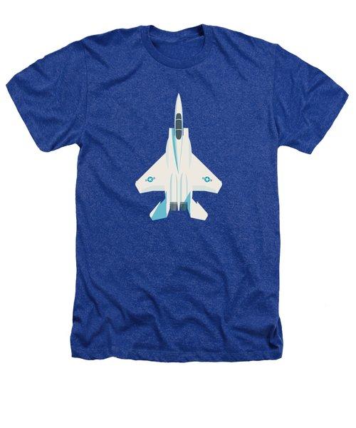 F15 Eagle Fighter Jet Aircraft - Slate Heathers T-Shirt