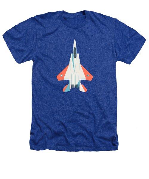 F15 Eagle Fighter Jet Aircraft - Test Slate Heathers T-Shirt