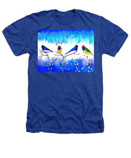 Finches Heathers T-Shirt by Cathy Jacobs