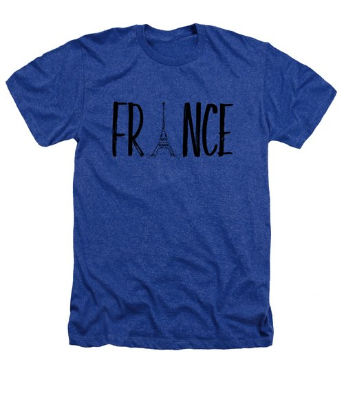 France Typography Heathers T-Shirt by Melanie Viola