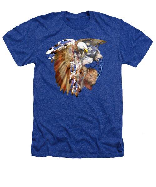 Freedom Lives Heathers T-Shirt by Carol Cavalaris