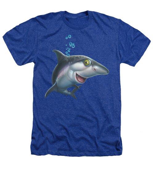 friendly Shark Cartoony cartoon under sea ocean underwater scene art print blue grey  Heathers T-Shirt by Walt Curlee