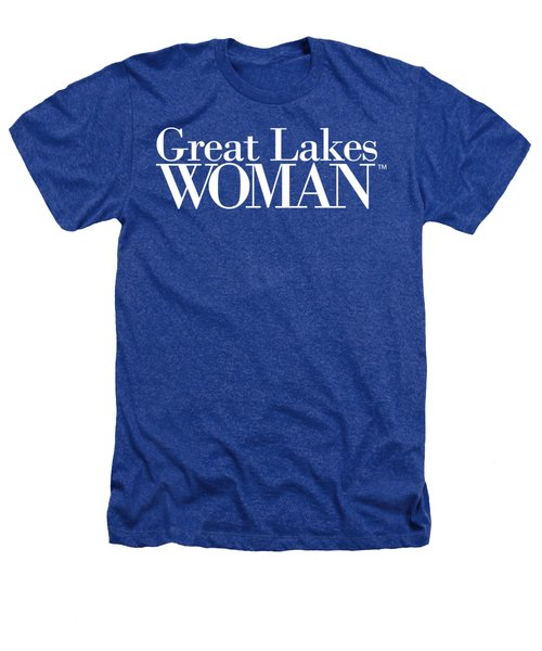 Great Lakes Woman White Logo Heathers T-Shirt