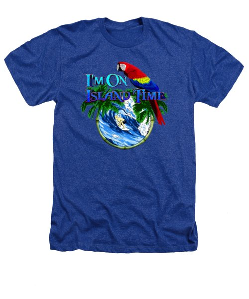 Island Time Surfing Heathers T-Shirt by Chris MacDonald