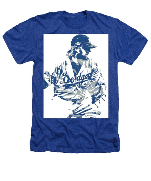 Justin Turner Los Angeles Dodgers Pixel Art 15 Heathers T-Shirt
