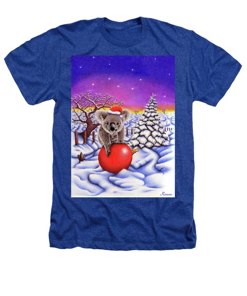 Koala On Christmas Ball Heathers T-Shirt by Remrov