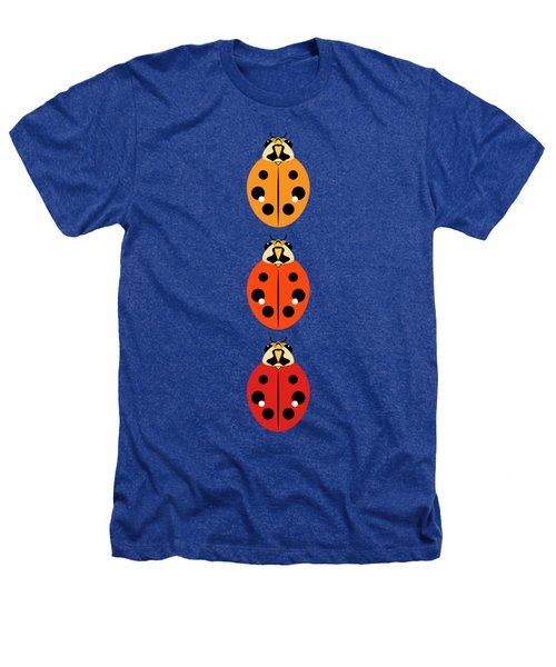 Ladybug Trio Vertical Heathers T-Shirt by MM Anderson