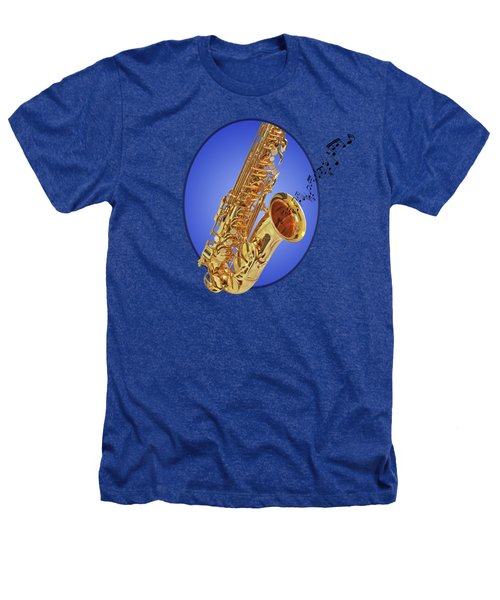 Midnight Blues Heathers T-Shirt by Gill Billington