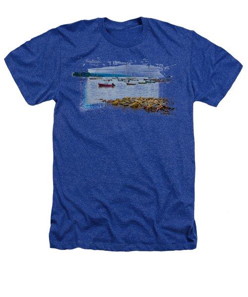 Moorings 2 Heathers T-Shirt by John M Bailey