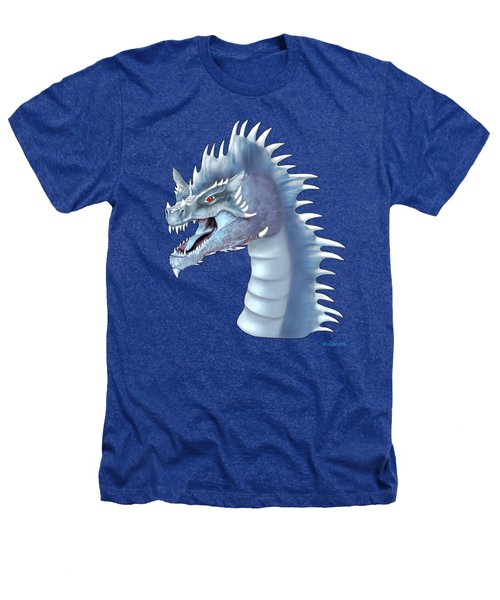 Mystical Ice Dragon Heathers T-Shirt by Glenn Holbrook