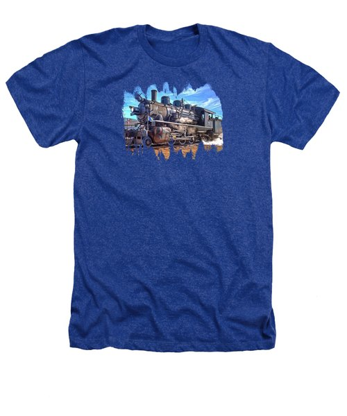No. 25 Steam Locomotive Heathers T-Shirt by Thom Zehrfeld