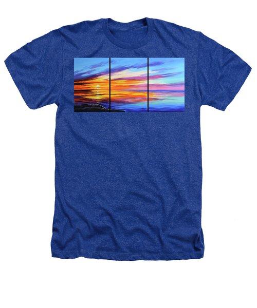 Ocean Sunset Heathers T-Shirt