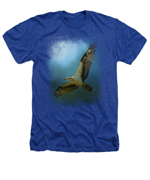 Osprey In The Evening Light Heathers T-Shirt by Jai Johnson