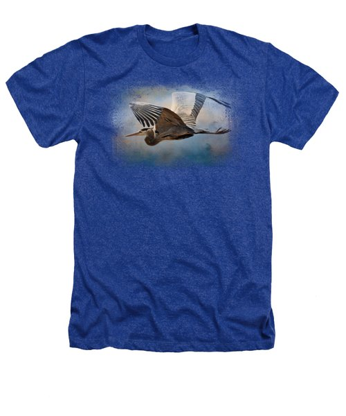 Over Ocean Skies Heathers T-Shirt by Jai Johnson