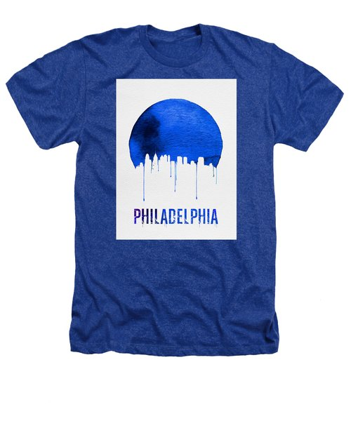 Philadelphia Skyline Blue Heathers T-Shirt by Naxart Studio