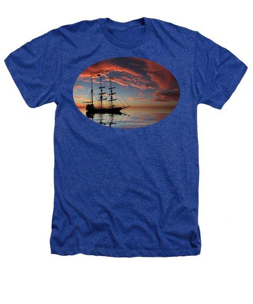 Pirate Ship At Sunset Heathers T-Shirt