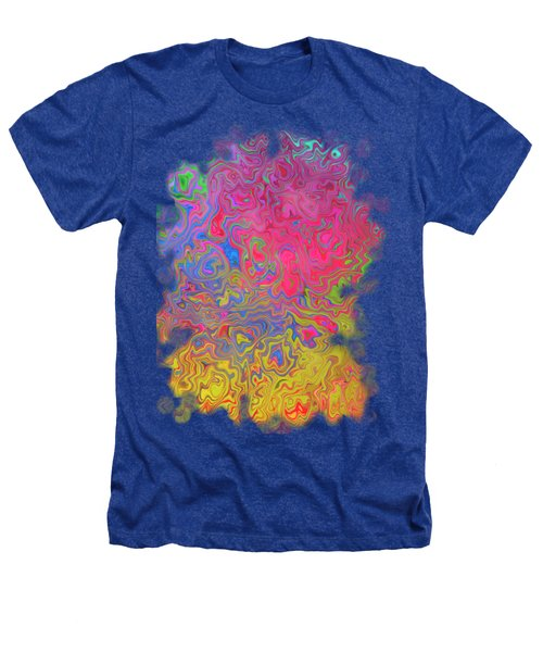Psychedelic Laundry Transparent Design Heathers T-Shirt by Shelly Weingart