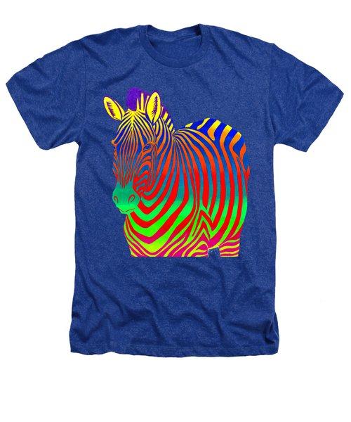 Psychedelic Rainbow Zebra Heathers T-Shirt