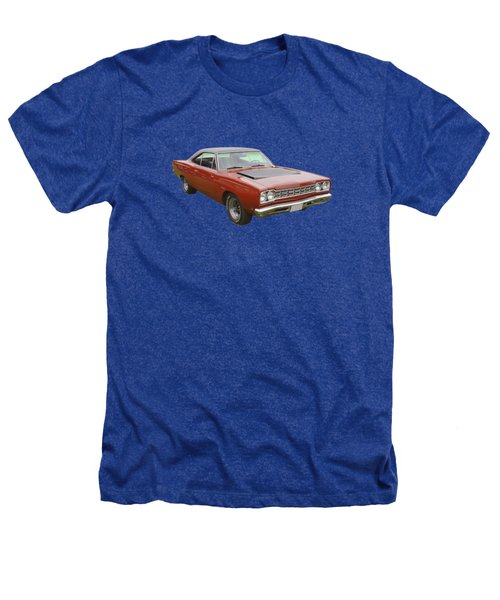Red 1968 Plymouth Roadrunner Muscle Car Heathers T-Shirt