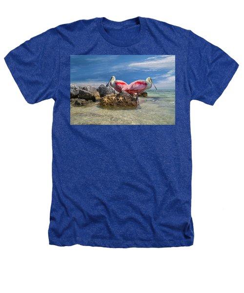Roseate Spoonbill Florida Keys Heathers T-Shirt