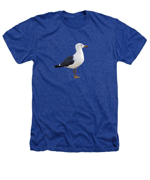 Seagull Portrait Heathers T-Shirt by Sue Melvin