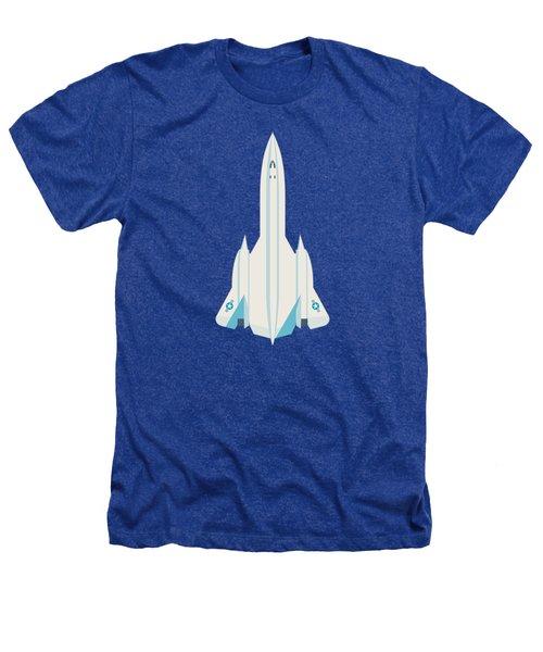 Sr-71 Blackbird Us Air Force Jet Aircraft - Blue Heathers T-Shirt