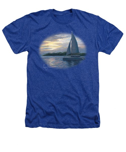 Sunset In Key West Heathers T-Shirt by Lucie Bilodeau