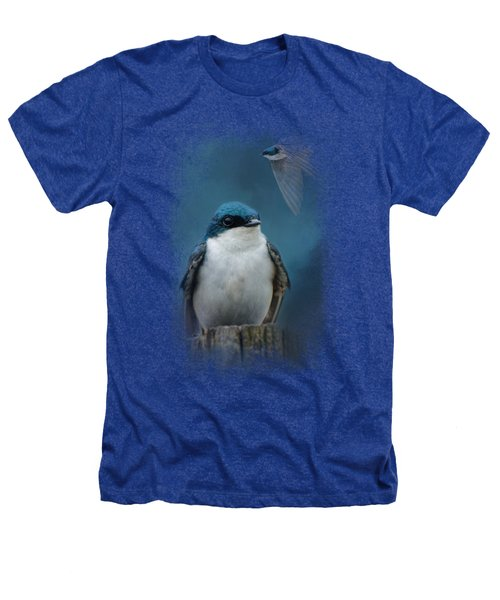 The Beautiful Tree Swallow Heathers T-Shirt by Jai Johnson