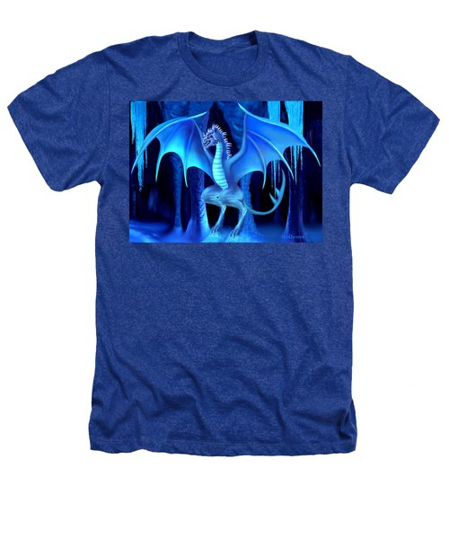 The Blue Ice Dragon Heathers T-Shirt by Glenn Holbrook