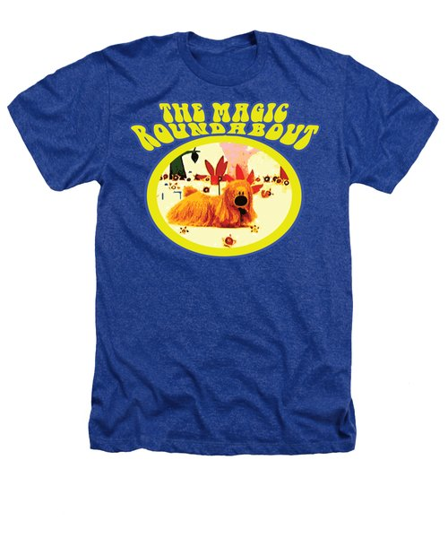 The Magic Roundabout Retro Design Hippy Design 60s And 70s Heathers T-Shirt by Paul Telling
