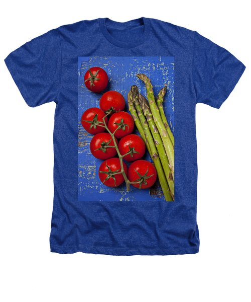 Tomatoes And Asparagus  Heathers T-Shirt by Garry Gay