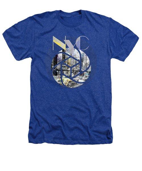 Trendy Design New York City Geometric Mix No 4 Heathers T-Shirt by Melanie Viola