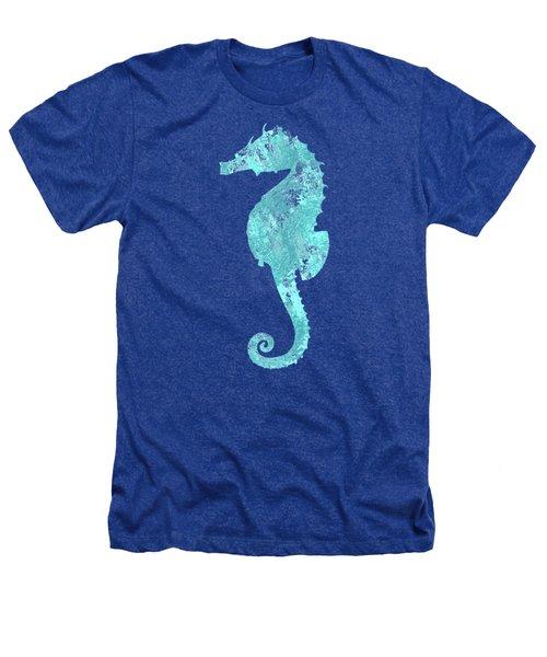 Vibrant Blue Seahorse Beach House Coastal Art Heathers T-Shirt