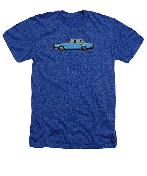 Volvo Brick 244 240 Sedan Brick Blue Heathers T-Shirt by Monkey Crisis On Mars