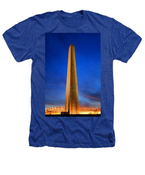 Washington Monument At Dusk Heathers T-Shirt