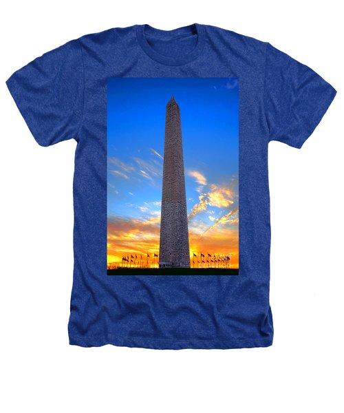 Washington Monument At Sunset  Heathers T-Shirt