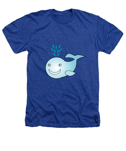 Whale - Animals - Art For Kids Heathers T-Shirt by Anastasiya Malakhova