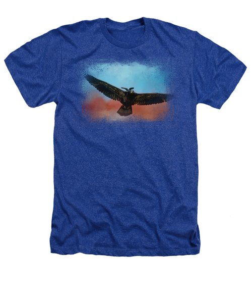 Whisper Of The Eagle Rider Heathers T-Shirt by Jai Johnson