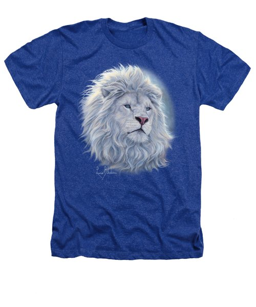 White Lion Heathers T-Shirt by Lucie Bilodeau
