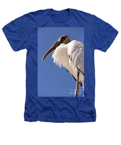Wonderful Wood Stork Heathers T-Shirt by Carol Groenen