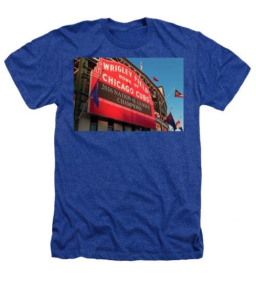 Wrigley Field Marquee Angle Heathers T-Shirt by Steve Gadomski