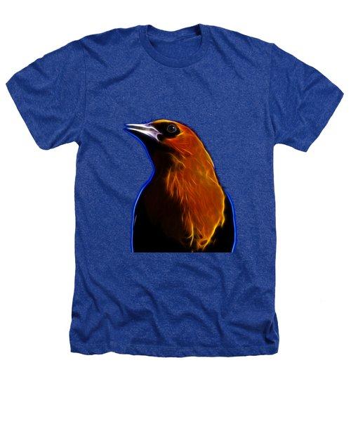Yellow Headed Blackbird Heathers T-Shirt by Shane Bechler