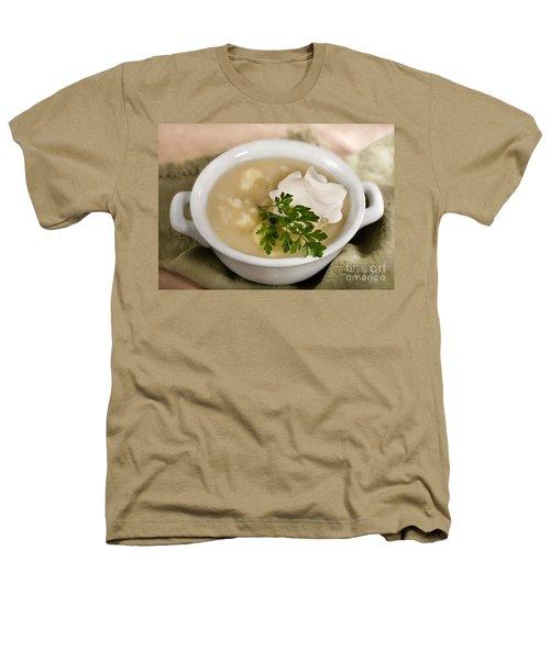 Cauliflower Soup Heathers T-Shirt by Iris Richardson