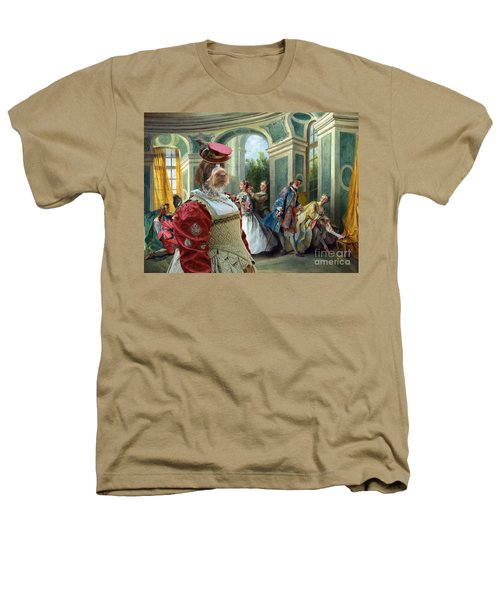 Korthals Pointing Griffon Art Canvas Print  Heathers T-Shirt by Sandra Sij