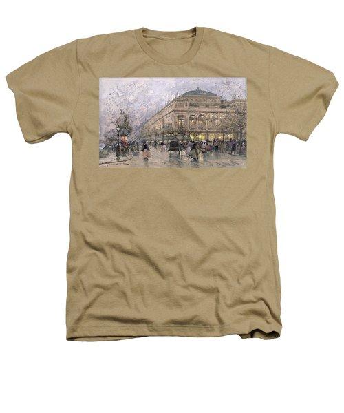 Parisian Street Scene Heathers T-Shirt by Eugene Galien-Laloue